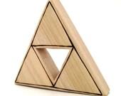 Nintendo Legend of Zelda Triforce Toy - Handade Wooden Toy