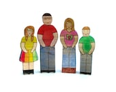 Custom Family Toy Set - Wood Figures - Wooden Toys - ArmadilloDreams