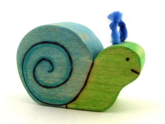 Friendly Snail Childrens Handmade Toy - Kids Wood Toy