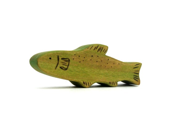 Rainbow Trout Fish Toy - Handmade Wooden Toy - Waldorf Toy