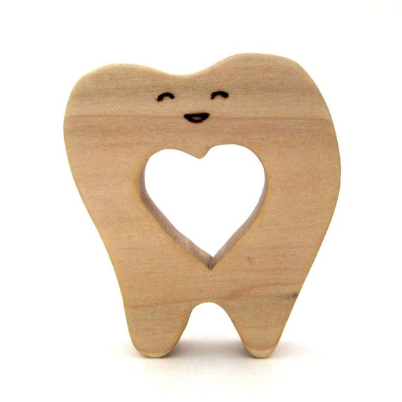 Toofy - Natural Wood Teether - Wooden Baby Toy