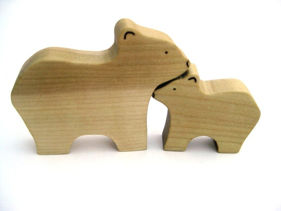 Mama & Baby Bear Toys - Handmade Wooden Toys - Waldorf Toys