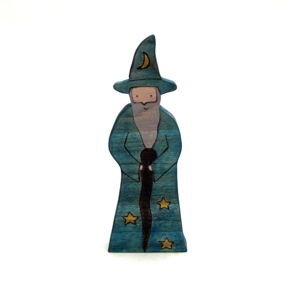 Wizard Toy - Wooden Toy - Waldorf Toy - Handmade Toy