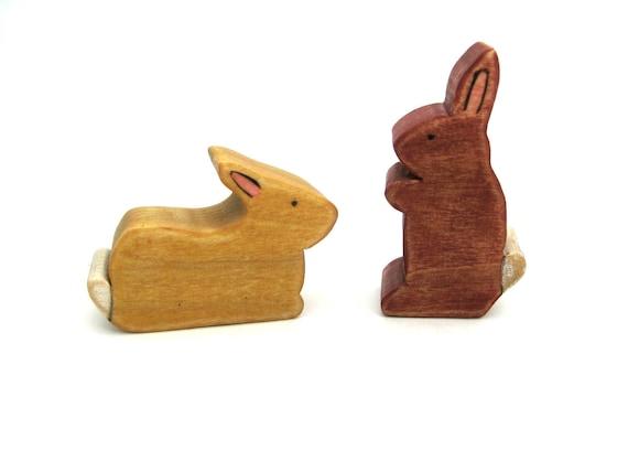 Bunny Set - Wood Toys - Handmade Toys - Animal Toys