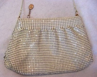 Vintage 1960's Enamel Mesh Shoulder Bag / Purse ..Pure Style