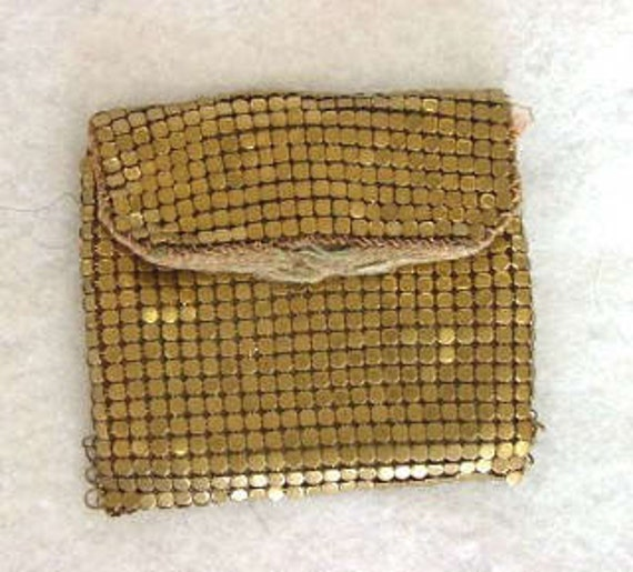 Vintage 1940's Metal Mesh Coin Purse