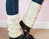 Leg Warmers - Women's Leg Warmers - Ladies Teen Legwarmers - Crochet Legwarmers Adult - MyStitchInTime
