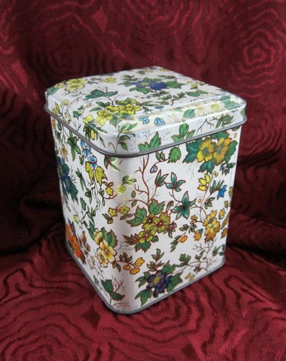 Floral Tin - Vintage