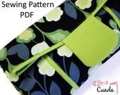 Clutch Bag PDF Sewing Pattern & Tutorial with Photos.foldover Cuada clutch