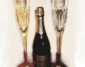 RESERVED for Couture so Creative, Cut Crystal Champagne Flutes Tall and Elegant Two of a Kind