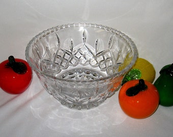 Waterford Large Crystal Salad or Fruit Bowl