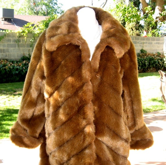 Faux Mink Fur Coat by Terry Lewis Classic Luxuries