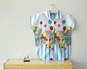 happy birthday cat blouse