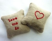 Love Me Do. Hand Embroidered Rose Sachets