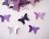 100 Purple Monarch Butterfly punch die cut embellishments E407
