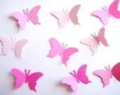 100 Pink Monarch Butterfly punch die cut scrabooking embellishments E471