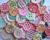 100 Embossed  Buttons die cut punch scrapbooking embellishments  noE520