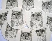 12 Owl Tags  noE797