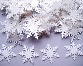50 Winter White Alpine Snowflake punch die cut embellishments E1125
