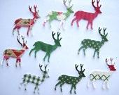 100 Christmas Deer  Reindeer Paper punch die cut embellishments noE1169