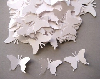 100 Wedding White Monarch Butterfly embellishments E389