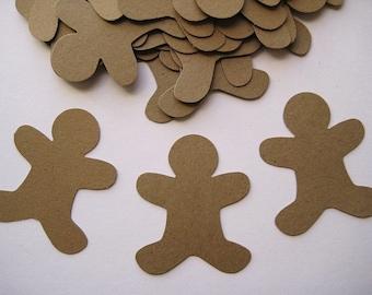 30 Gingerbread Men punch die cut embellishments E397