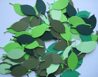 100 Rose Leaf punch die cut embellishments E166