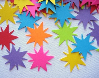 100 Bright Radiant Star punch die cut embellishments E291
