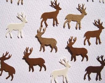 100 Brown Beige Deer punch die cut embellishments E339