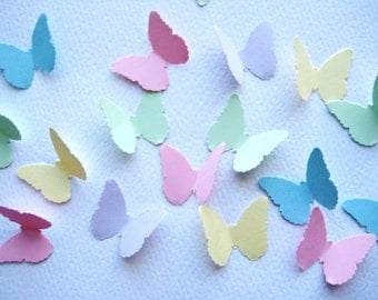 100 Pastel Butterfly punch die cut embellishments noE275