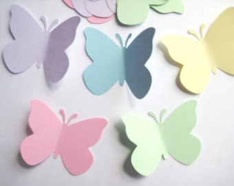 40 Large Pastel Butterfly punch die cut embellishments E492