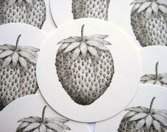 12 Strawberry Tags  noE789
