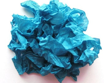 5 yards Dark Turquoise Blue Crinkled Seam Binding E888 SALE