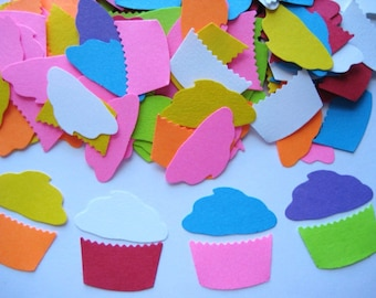100 Cupcake punch die cut embellishments E1010