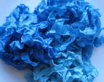 Aqua Ice Hand Crinkled Seam Binding Rayon Ribbon 15 yards E1051 SALE