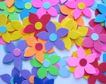 50 Bright Star Flower Petals punch die cut embellishments E1326