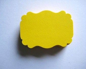 25 Bright Yellow Tags journal gift  party favor E1429