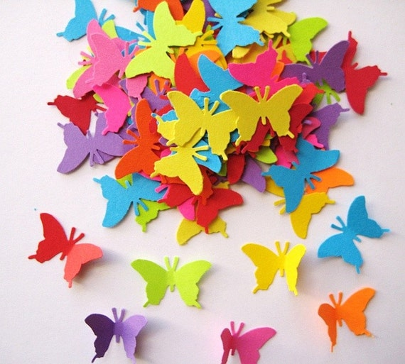 100 Bright Monarch Butterfly punch die cut embellishments E390