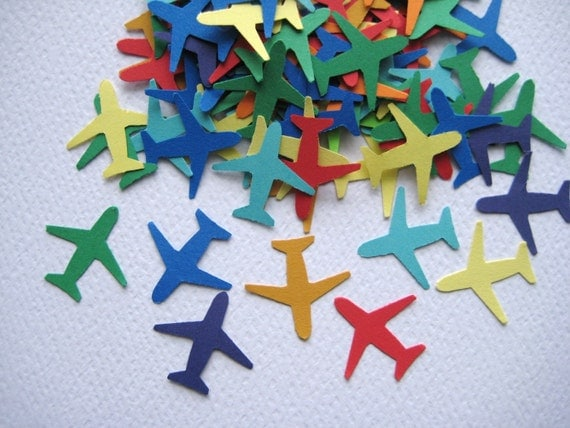 100 Airplanes punch die cut embellishments E134