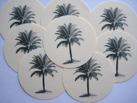 12 Palm Tree Tags noE854