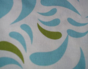 New Brother TWO Pieces of FABRIC Sister Design Aqua and Green Design 100% Cotton Fabric One Yard Piece and 3/8 Yard Brother Sister Design