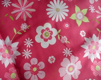 New Brother Sister Design Pink Florals 100% Cotton Fabric One Yard Brother Sister Design