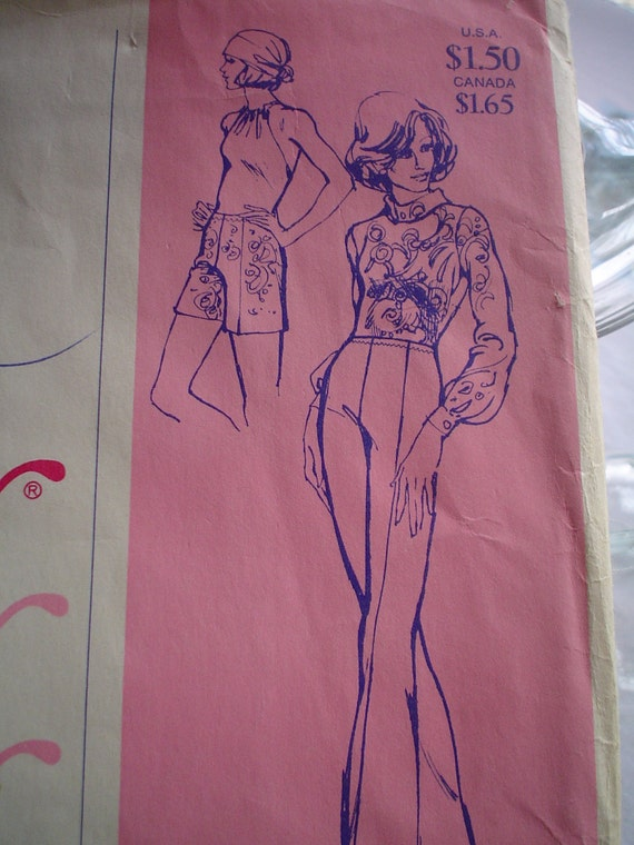 Vintage Slacks Pants and Shorts Stretch and Sew Pattern  No 700 Sizes 30 thru 46 SALE