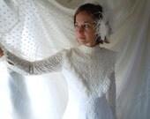 Vintage Wedding Gown - Vintage Wedding Dress - Mid Century Wedding Dress - White 1960s Gown - Retro Wedding Dress