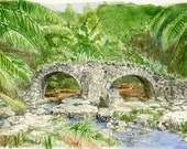 Old stone bridge on Guam