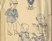 1940's Vintage Butterick Pattern 2976 Child's Romper w/ Raglan Sleeves Sz. 1