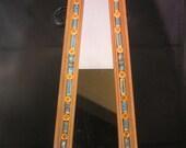 Ceramic Beaded Triangular Mosaic Mirror