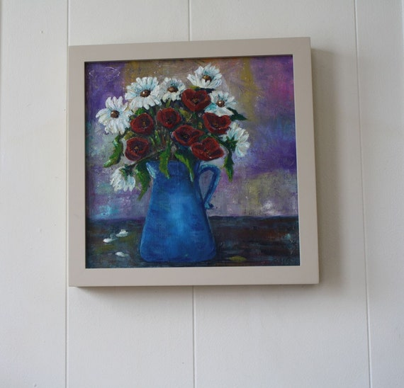 Oil Painting Flowers - Original Oil Painting Still Life - Floral Painting