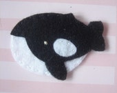 Set Of 4 pcs Handmade Felt Orca Whale