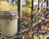 Soy Candle - Juniper Breeze - 8 oz Mason Jar - Hand Poured